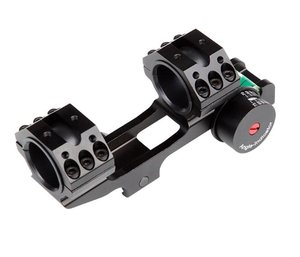 OPM-1006 Rifle scope (25.4/30 mm tube) saddle with , 2 extra Picatinny rails , spirit level and angle indicator